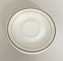 vintage corelle six piece lot saucers small dish set green and gold trim  - $14.15