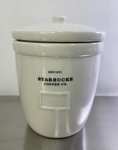 Starbucks Vintage 2002 Established 1971 White Ceramic Cookie Jar Canister - $39.95