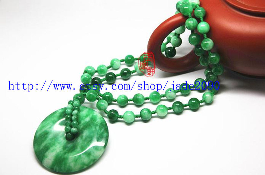Primary image for Free Shipping - Natural GREEN Jade / Jadeite meditation Prayer beads beaded jade
