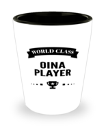 World Class Oina Player Shot Glass - 1.5 oz Ceramic Cup For Sports Fans  - $12.95