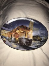 The Hamilton Collection Snowy Passages Big City Lights Train Plate - $5.94