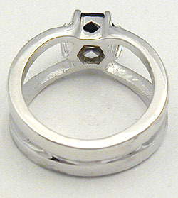 SMOKY QUARTZ CZ STERLING SILVER RING only size 5 left