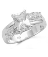 STERLING SILVER CZ RING  - $22.49