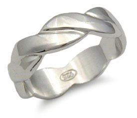 CLEARANCE STERLING SILVER BAND - size 5