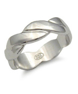 CLEARANCE STERLING SILVER BAND - size 5 - $15.49
