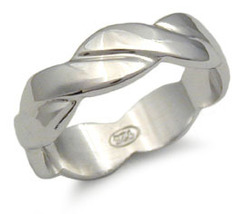 CLEARANCE STERLING SILVER BAND - size 6 - $15.49