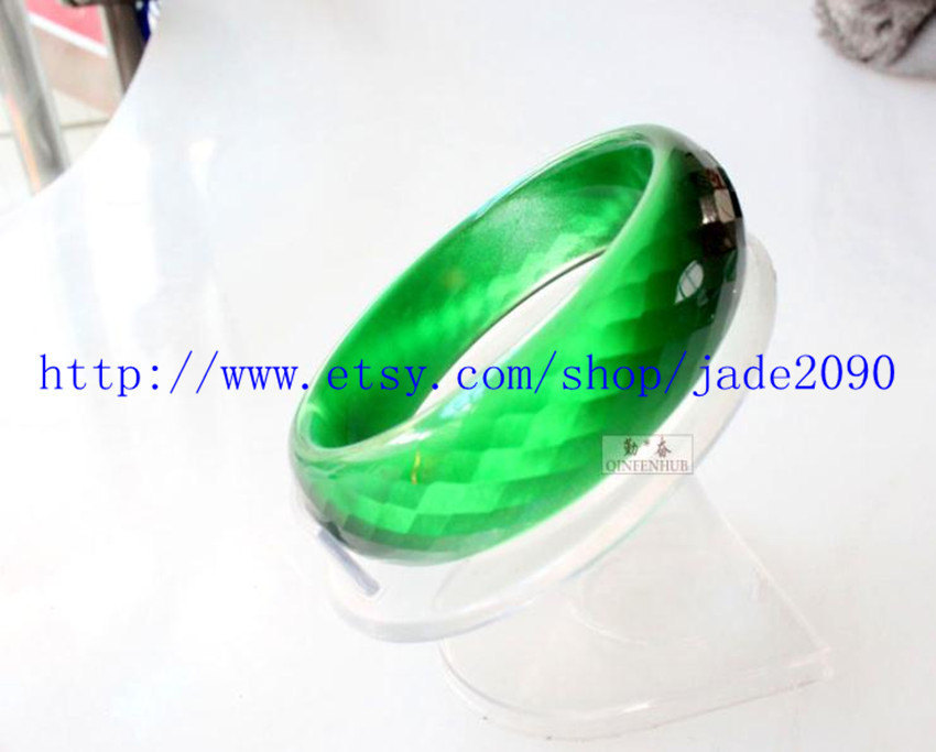 Primary image for Free shipping - Natural green tiger eye stone charm bangle ( custom size Diamete