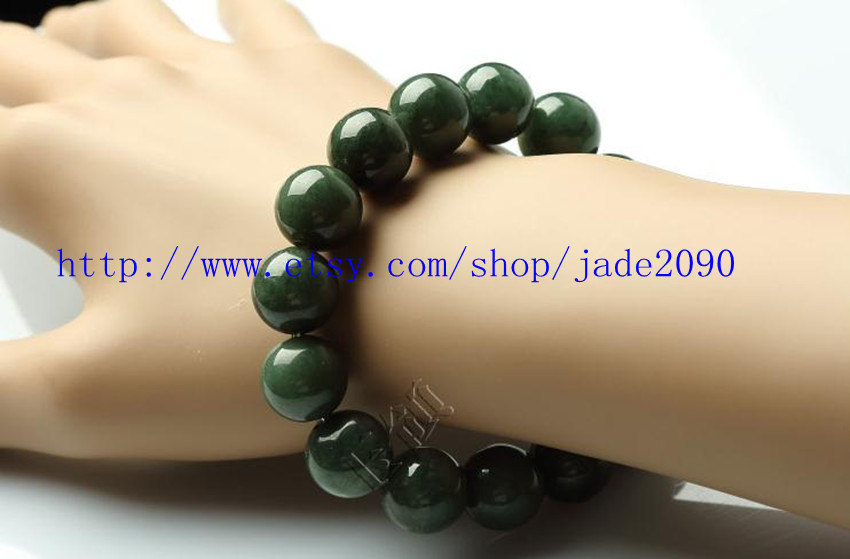 Free Shipping - Natural green jadeite jade bracelet ,   Natural Green jadeite Ja