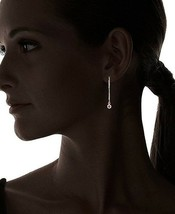 New Jules Smith Gold Hex Red Crystal Ear Threader Earrings NWT image 2
