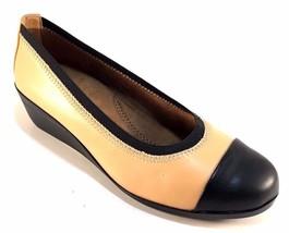 Aerosoles True Blue Tan Low Wedge Round Toe Slip On Shoes - $43.20