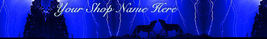 Web Banner Autumn Blue Stormy Wolves Custom Designed   19a - $7.00