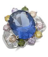 MULTI-COLOR CZ RING - Oval Sapphire CZ size 5 (2 left) - $24.49