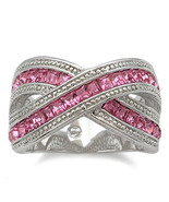 RIGHT HAND CZ RING - deep pink Size 8 last 1 - $24.49