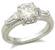 S. silver Solitaire CZ Engagement Ring ONLY SIZE 9 left