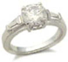 S. silver Solitaire CZ Engagement Ring ONLY SIZE 9 left - $19.49