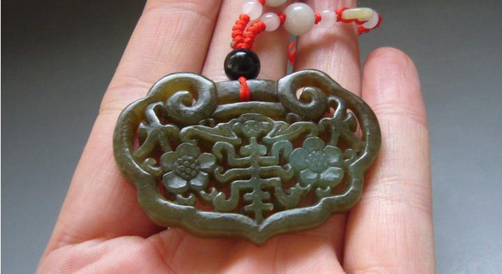 Primary image for Free Shipping - good luck Amulet  Natural yellow  jade carved  best Blessing  ja