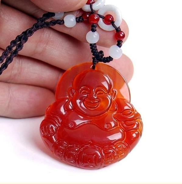 Primary image for Free shipping  Natural Red jade jadeite buddha charm jade pendant