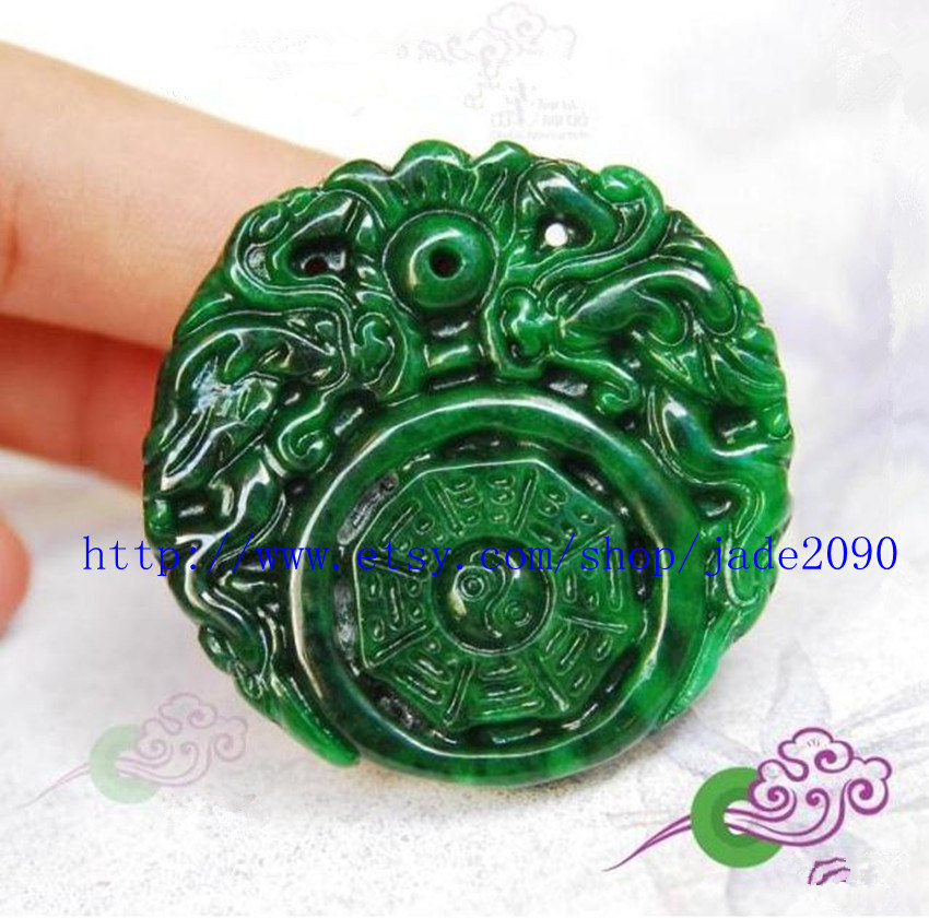 Primary image for Free Shipping - Natural green jadeite jade , Natural Green jadeite jade carved t