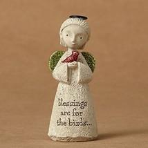 Enesco Bless You Mini Angel with Bird Figurine 3.25 In - $19.96