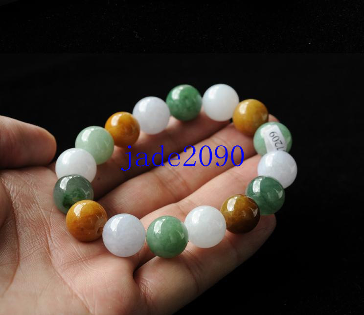 Primary image for Free Shipping -  green jadeite bracelet ,  Grade AAA Natural Green jadeite Jade
