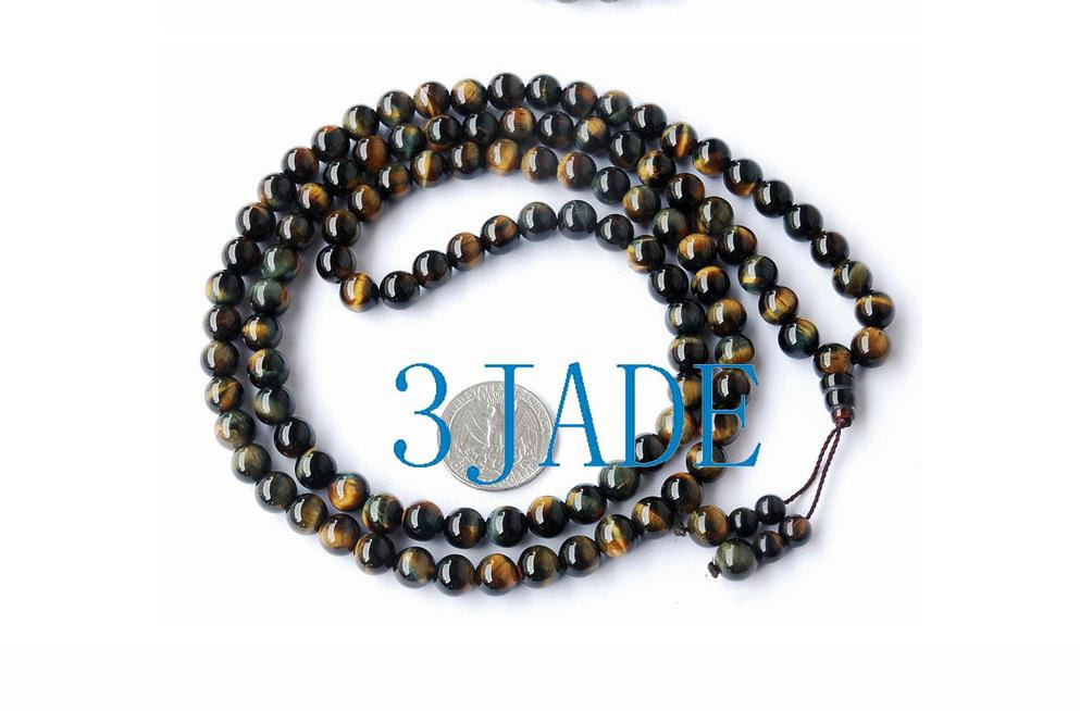 Primary image for Free Shipping - 8.5 MM AAA Grade Hand Carved Pure natural Blue Tiger's Eye Tibet