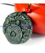 Free Shipping -  china Gossip Dragon Phoenix pendants ,lack green jadeit... - $26.00