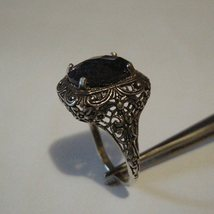 6ct opaque Sapphire Sterling Silver Ring  - $59.00
