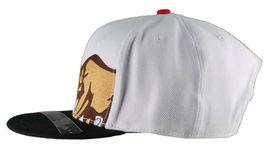 Dissizit! Side Bear White Black Brim Snapback Cap Hat California Star Flag image 5