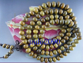 Free Shipping - Tibetan Buddhism Natural Green sandalwood Prayer Beads meditatio - $29.99