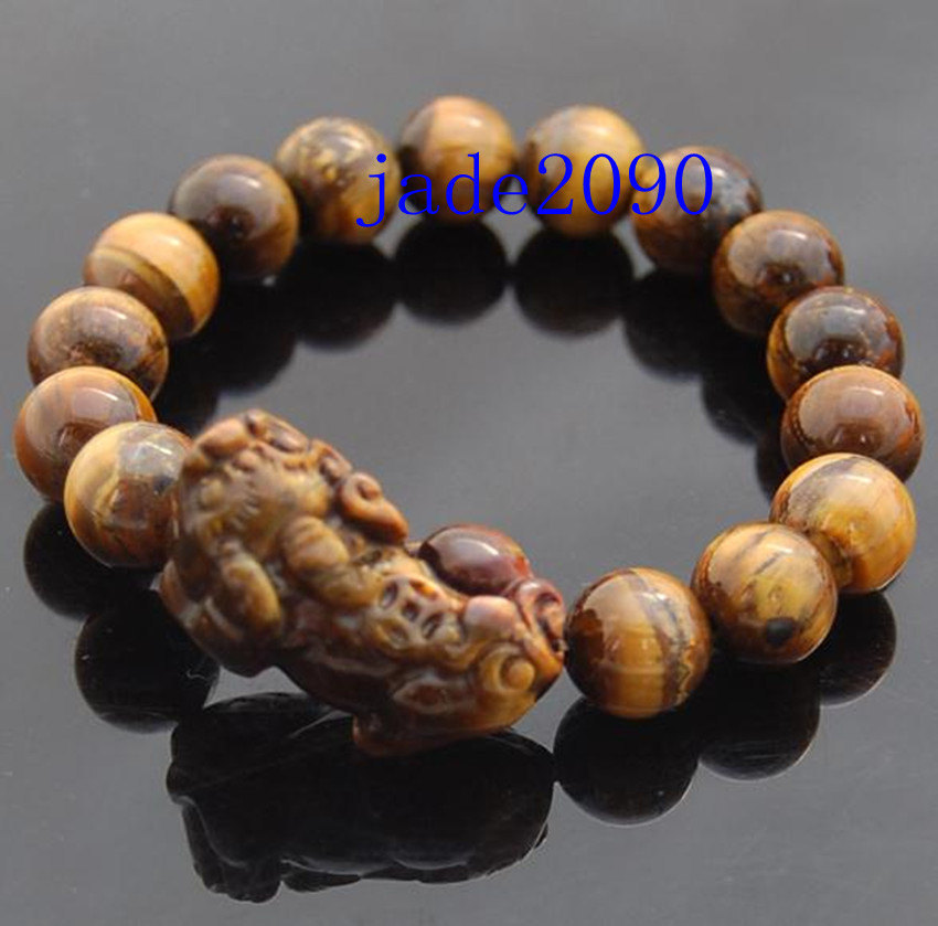 Primary image for Free Shipping -  Handcrafted Grade AAA Natural yellow Tiger eye stone '' PI YAO