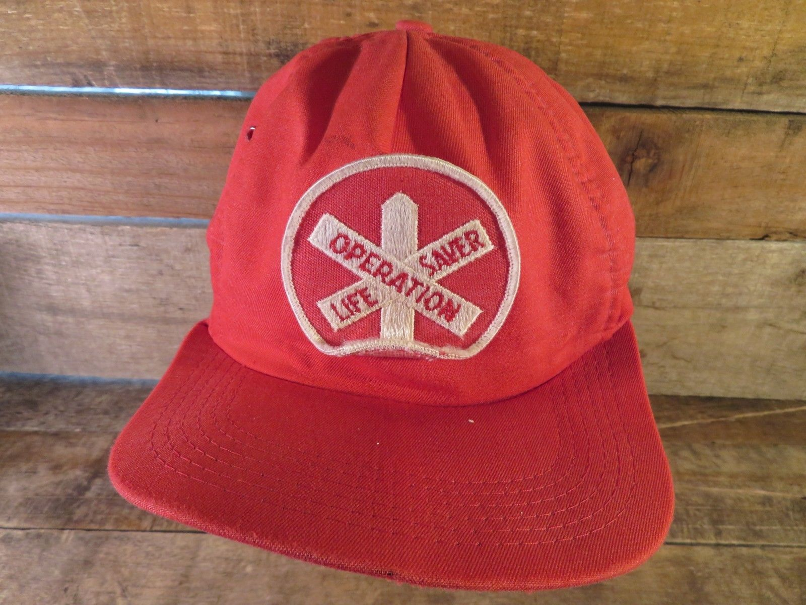 OPERATION LIFE SAVER Vintage Patch Made in USA Snapback Adult Cap Hat
