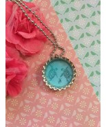 Blue Sea Turtle Family Bottle Cap Necklace - $4.00