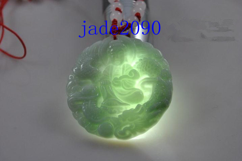 Primary image for Free shipping - Hand carved Natural green jade carved Buddhist Bodhisattvas with