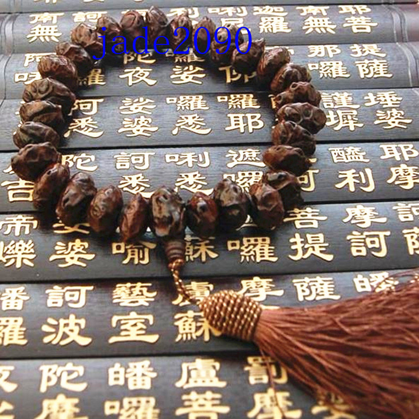 Primary image for Free Shipping - Tibetan Buddhism handmade Natural Ebony Prayer beads charm brace