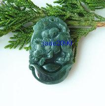 Free Shipping -  jadeite jade ox , Elegant Natural green ox jadeite jade charm P - $19.99