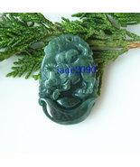 Free Shipping -  jadeite jade ox , Elegant Natural green ox jadeite jade charm P - £14.35 GBP