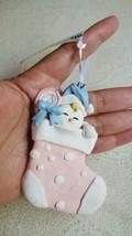 BABY shower  CHRISTMAS CLAYDOUGH BABY GIarL XMAS TREE ORNAMENT • Pre-own... - $13.06