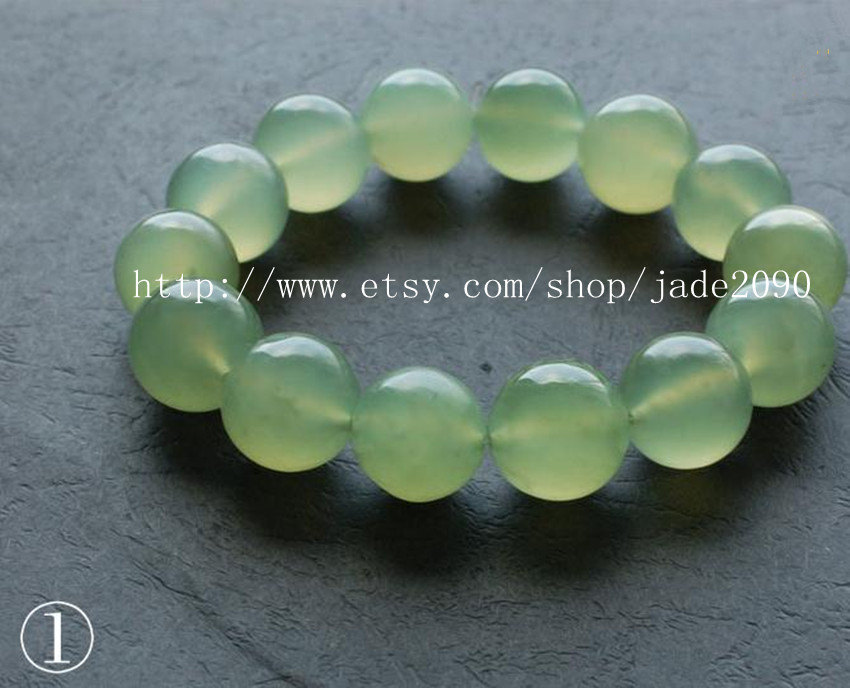 Primary image for Free Shipping - 100% Nice Grade AAA Natural Green Jadeite Jade charm beaded Brac