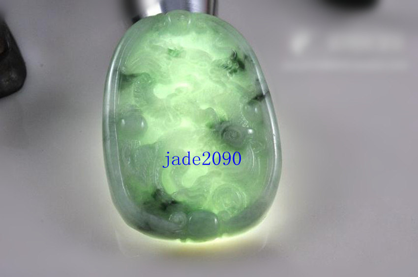 Primary image for Free Shipping - jadeite jade dragon , Elegant Natural green Dragon jadeite jade