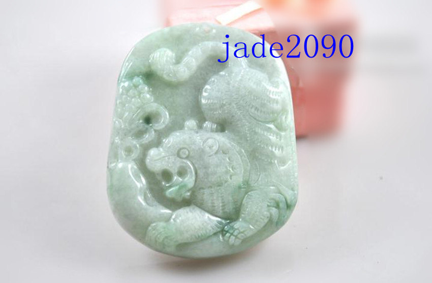 Primary image for Free Shipping - jadeite jade Tiger  , Elegant Natural green Tiger  jadeite jade