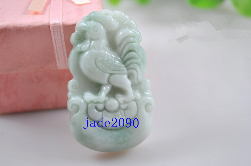 Primary image for Free Shipping - white jadeite jade Rooster , Elegant Natural white Rooster jadei
