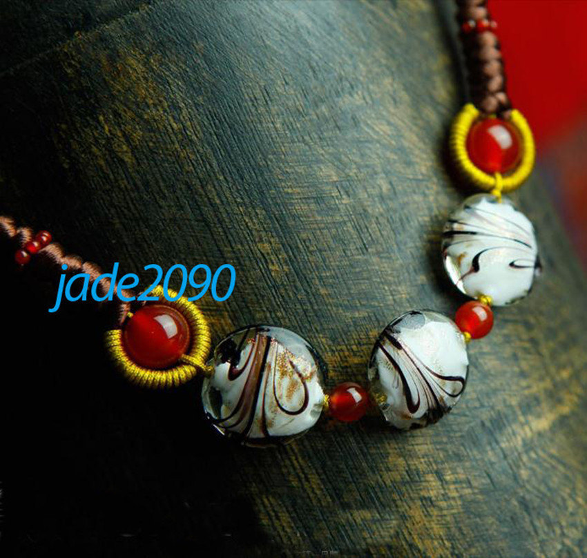 Primary image for FREE SHIPPING - Tibetan Natural Red jadeite jade with agate beads charm pendant