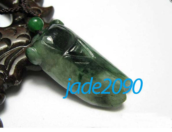 Primary image for Free shipping - green jadeite jade , good luck Natural green jade carved Cicada