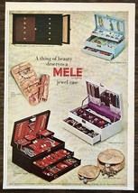 1965 Mele Jewelry Cases Print Ad Treasure Trove Futura Magic Touch Broca... - $10.89