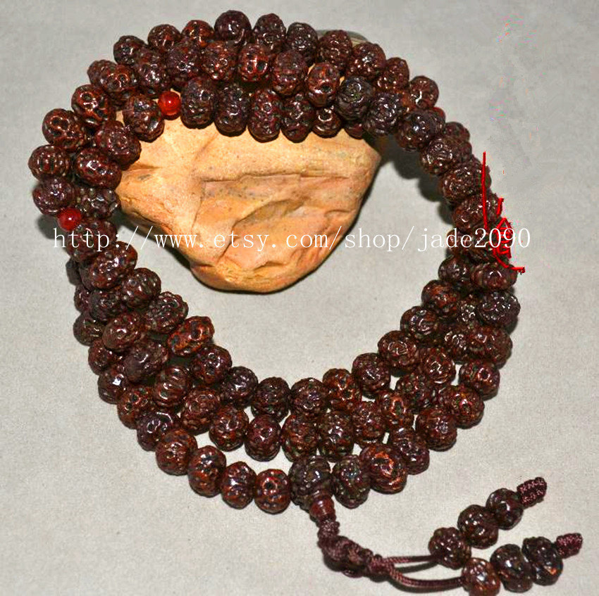 Primary image for Free Shipping - Tibetan Buddhism Real Natural Red Bodhi Seeds Meditation yoga 10