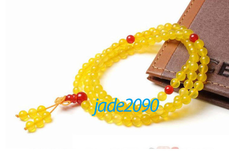 Primary image for Free shipping - natural yellow jade Mala  natural yellow jadeite jade beads Medi