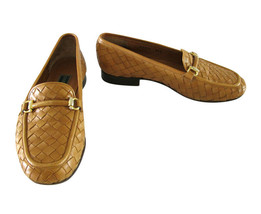 Cole Haan Tan Basket Weave Loafer Shoes size 8 1/2 B - $57.42