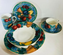 """FORBIDDEN FRUIT""  By Victoria & Beale  # 9024 (Oven Safe) Dinnerware Co... - $58.41+"