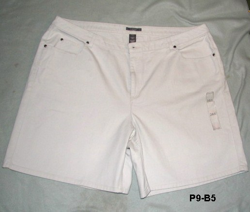 Liz Claiborne Plus Sz 24W Light Tan Denim Shorts NWT
