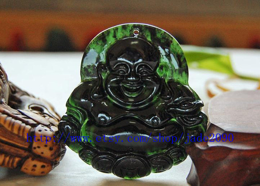 Primary image for Free Shipping - Hand carved real jadeite jade , Natural Green jade / natural gre
